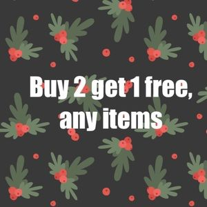 BOGO -  buy any two items get third free